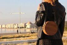 triGOnis wooden bags and fashion accessories / χειροποίητα ξύλινα γυναικεία τσαντάκια / Handmade wooden bags / Des sacs en bois