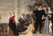 La Famille à Travers les Siècles - Family Across Centuries / Tableau d'inspiration de la marque Nougatine, France. Articles de puériculture et berceaux fabriqués en France.