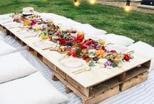 Entertaining Ideas / Entertaining, Dinner Parties, Friends Over, Recipes, Table Arrangements, Place Settings, Place Mats, Dinner, Lunch, Parties, Get Togethers