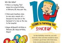 Think STINK and STEM and more! / Get a free poster - check out Stink teacher guide pin for details! Megan McDonald's books featuring Judy Moody's little brother, Stink, are chock full of curriculum tie-ins especially in the areas of math and science. Use Stink to introduce these topics, get kids thinking, engaged and laughing! RL.1.1,2,3,4,5,6,7,9; RL.2.1,3,4,5,6,7,10; RL.3.1,3,4,5,6,7,9,10 / by Candlewick Press Core Classroom