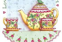 Everything Tea. / Tea cups/saucers, caddies, cosies, creamers, milk jugs, pots used as ornaments, mini tea sets, teapot shaped biscuits, etc. / by Jenni Jordan