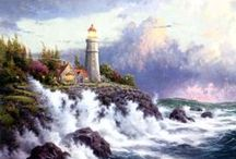 Artist - Thomas Kinkade / Art and other items by the late Thomas Kinkade. / by Jenni Jordan