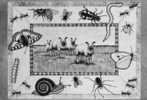 Erik of het klein insectenboek / Erik of het klein insectenboek, talentenklas voorstelling 2014 in de KOM. Schilderij de Wollewei van Marianne Oelers,  Muzikale begeleiding Kees Adolfson, decor Ton Habets