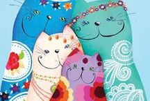 ✽ Sonja Kemp Design ♥ Etsy ✽ / The Etsy shop from the artist Sonja Kemp with CAT art prints, postcardspainting and coloring pages. www.etsy.com/shop/SonjaKempDesign