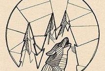 Geometric drawings / desenhos e símbolos que remetem a liberdade, a vida, de forma marcante e sútil