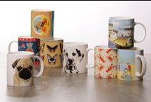 Mugs / Bone China and Shaped-Handle #Mugs of all shapes, sizes and designs! #ceramics #giftware #giftideas