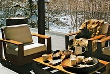 Outdoor Spaces / After a fun filled day of skiing you'll be relaxing with a hot chocolate in a place similar to these...