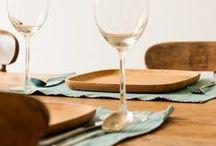 Aan tafel / Houten en bamboe producten die fantastisch aan tafel te gebruiken zijn.
