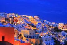 Sunset In Santorini, Greece