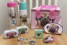 Pugs / This fun and cute #Pugs & Kisses collection is very on trend right now and one of Puckator's best-selling ranges! #bestseller #giftideas #giftware #accessories #pug #Pugs&Kisses