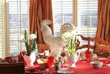 Red French Country Decor / by DoraDeansBlog