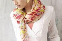 Идеи с шарфами и платками