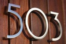 House Numbers / When your address looks this amazing, you want everyone to see it.