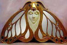 ART NOUVEAU, ART DECO / Art nouveau in architettura, gioielli, dipinti ed interni.