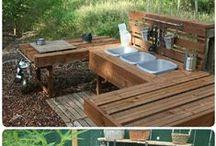 Små & store indretninger ude & inde / Her findes besparende & fantasifulde idéer til haven & hjemmet
