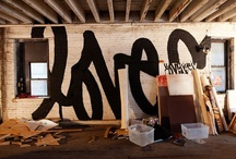 Street Art. / stencils, spray paints, & industrial strength adhesives / by theND