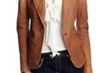Inspiration for Frugalistas: Tan Leather Blazer