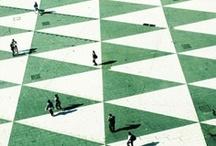 geometric fun / משחקים גיאומטריים ואשליות אופטיות יוצרים עניין ויזואלי ומוסיפים אווירה של תחכום לכל חלל