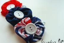 ozdoby do włosów dla dziewczynek / opaski, gumki, spinki - ręcznie wykonane ozdoby do włosów