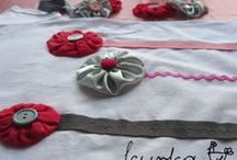 komplety - koszulki, opaski, gumki, spinki / ręcznie robione koszulki i ozdoby do włosów dla dziewczynek