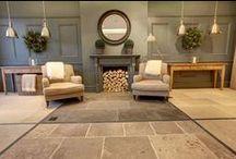 Our New Stone & Wood Flooring Showroom / Images of our new Limestone flagstone flooring, stone tile and engineered Oak flooring showroom in Cirencester.