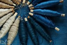 Indigo / Beautiful and distinctive artworks inspired by or curated using natural Indigo dyestuff.