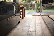 Smoked engineered oak flooring / Smoked finish engineered oak flooring from Flagstones Direct.