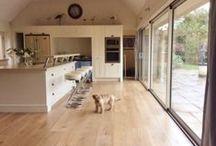 Light engineered oak flooring / Light coloured engineered oak flooring from Flagstones Direct.