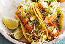Great Meals - Seafood / Fantastic seafood recipes to enjoy at the beach house or bring that vacation feel back home.  I never knew there were so many fish taco recipes! I need one. Now.