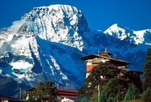 Bhutan / The country's landscape ranges from subtropical plains in the south to the sub-alpine Himalayan heights in the north, where some peaks exceed 7,000 metres.