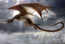 Dragons / A dragon is a legendary creature, typically with serpentine or reptilian traits, that features in the myths of many cultures. There are two distinct cultural traditions of dragons: the European dragon, derived from European folk traditions and ultimately related to Greek and Middle Eastern mythologies, and the Chinese dragon, with counterparts in Japan (namely the Japanese dragon), Korea and other East Asian countries.