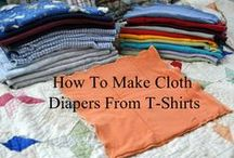 T-Shirt Diaper Patterns / Patterns for up-cycling old t-shirts into cloth diapers.