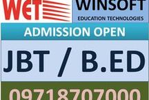 B.ED COLLEGE IN DELHI / B.A, B.Com, BBA, BBM, B.S , BCA, BDS, B.ed, M.ed, MBBS, B.Pharma, M.A, M.Com, MBA, MCA, M.Sc, M.Pharma, M.Phil, Ph.D, BDS, MCA, MSC, BSC, LLB, LLM, B.PHARMA, M.PHARMA, B.TECH, M.TECH, DIPLOMA, CIVIL DIPLOMA, B.ED, M.ED, JBT About WET (WINSOFT EDUCATION TECHNOLOGIES) an ISO 9001:2008 Certified institute, a pioneering Institution in the field of Vocational / Higher Education through its wide network of study Centers across India since last 13 years.