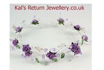 Contact Kal's Return Jewellery / Bespoke wedding hair accessories and bridal bouquets with caring and friendly customer service.  http://www.kalsreturnjewellery.co.uk  /   https://www.etsy.com/uk/shop