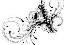 Kalligrafi - Bokstaver / Kalligrafi er kunsten å skrive vakkert - skjønnskrift - skriving som kunst.