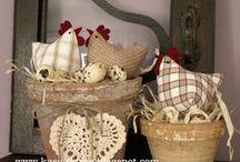 šití háčkování / šité a háčkované ozdoby