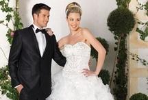 Robe de mariée princesse / Les robes de mariées « Princesse » scintillent de leurs strasses et perles qui accompagnent les broderies de créations uniques. Le rêve féminin d'être une princesse devient réalité.