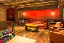 Home Bowling Alley - Seating & Storage Ideas / Seating and storage ideas for home bowling alleys and private bowling amenities.