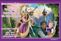 Disney Tangled Birthday Invitations and party supplies / Disney Tangled Birthday Invitations and party supplies, Disney Tangled Birthday Invitations, Disney Tangled Birthday Balloons, Disney Tangled Birthday Decorations, Disney Tangled party supplies, Disney Tangled cupcake toppers, Disney Tangled gift tags, Disney Tangled water bottle labels, Disney Tangled candy bar wrappers, Disney Rapunzel, Disney Tangled