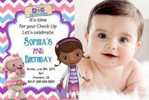 Doc McStuffins Birthday Invitations and party supplies / Doc McStuffins, Doc Mcstuffins birthday Invitations, Doc Mcstuffins birthday supplies, Doc Mcstuffins birthday party, Doc McStuffins water bottle labels, Doc McStuffins Birthday Balloons, Doc McStuffins party decorations, Doc McStuffins Invitations