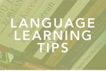 Language Learning Tips / A collection of resources to help you on your language learning journey.  language learning, language hacking, learn a language, language lover, language nerd, language geek, learn french, learn spanish, learn italian, learn german, learn russian, learn korean, learn chinese, learn mandarin, learn croatian