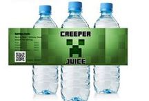 Minecraft Birthday Invitations and party supplies / Minecraft, Minecraft party, minecraft birthday invitations, minecraft birthday supplies, minecraft birthday decorations, minecraft birthday candy bar wrappers, minecraft birthday water bottle labels, minecraft gift tags, minecraft decorations, minecraft supplies