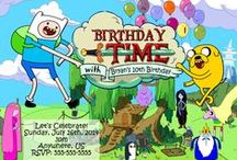 Adventure Time Birthday Invitations and party supplies / Adventure Time, Adventure Time Birthday Invitations, Adventure Time Birthday party, Adventure Time Birthday Supplies, Adventure Time Birthday Decorations, Adventure Time Birthday water bottle labels, Adventure time birthday banner, adventure time gift tags, adventure time candy bar wrapppers, Adventure Time Party Favors