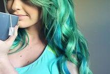 aaaaand dyed hair