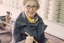 """Vera Neumann / 'Vera Neumann was an American artist and entrepreneur best known for her boldly colored linen patterns and scarves signed """"Vera"""" and featuring a ladybug.' (via Wikipedia)"""