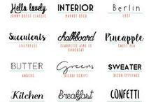 Favorite Fonts for Design / Mostly free fonts for design