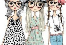 Sassy Sisters. / Crafts / by Carol Rice