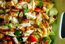 Its All About a Great Salad with Additional Proteins / Salads that have some additional chichen,fish, pork, or beef