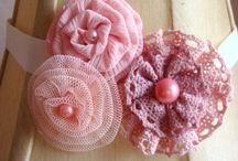 Hair Bows, Pins, Ribbons, Fabric Flowers / by Yan Li