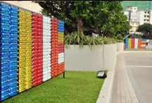 Vesak decor at Cinnamon Grand Colombo / Yesterday's trash can be tomorrow's treasure. Check out how our talented engineering team, illumines the hotel's landscape with stunning lights made from 8000 discarded plastic cups and 3500 water discarded bottles! Asia's First CarbonNeutral® Venue, Nuga Gama was also creatively lightened using discarded plastic bottles covered in coconut shreds. #CinnamonGrandColombo #VesakCelebrations